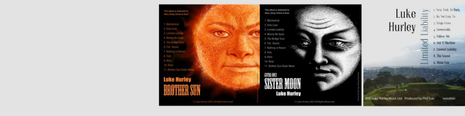 Luke Hurley music - Brother Sun, Sister Moon, Limited Liability - live album