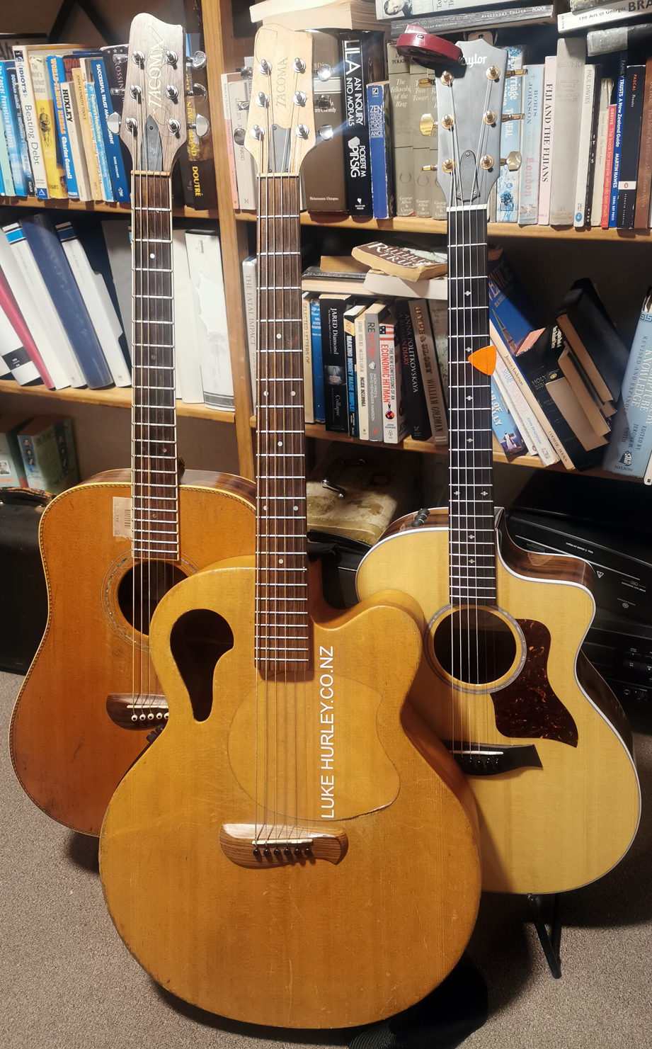 Takoma 3 guitars