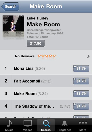 Make Room on iTunes by Luke Hurley
