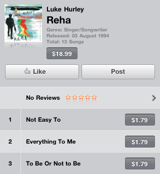 Reha album on iTunes